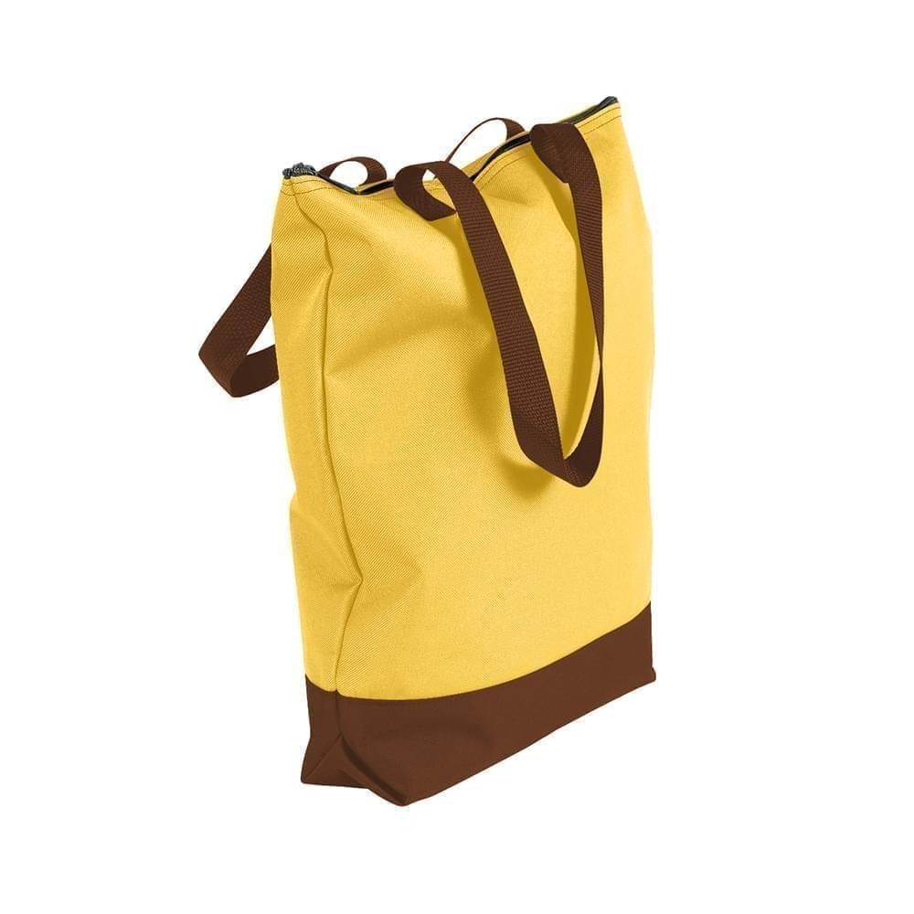 USA Made Poly Notebook Tote Bags, Gold-Brown, 1AAMX1UA4S