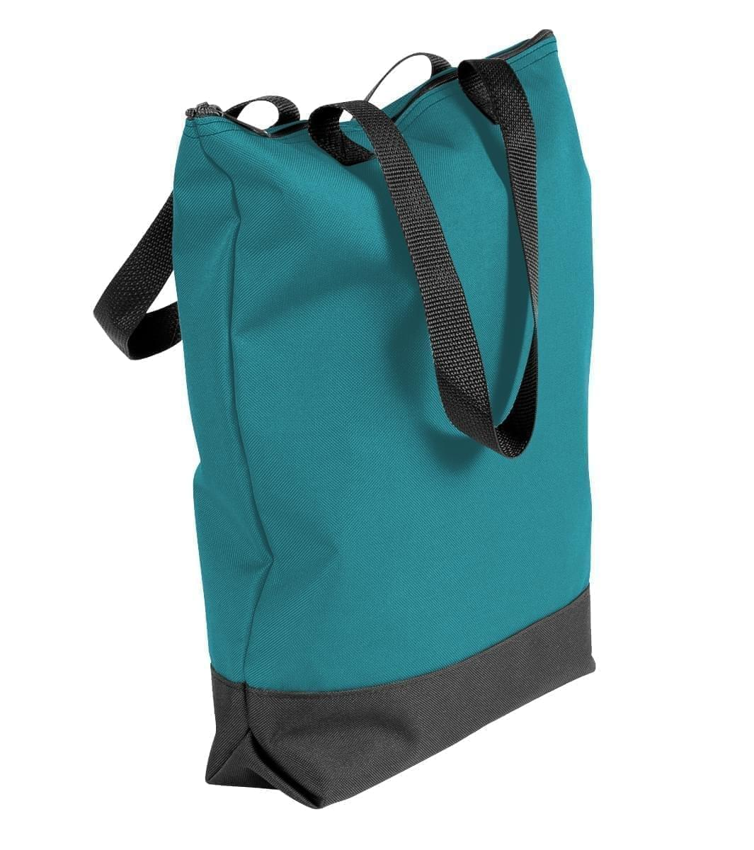 USA Made Poly Notebook Tote Bags, Turquoise-Black, 1AAMX1UA9R