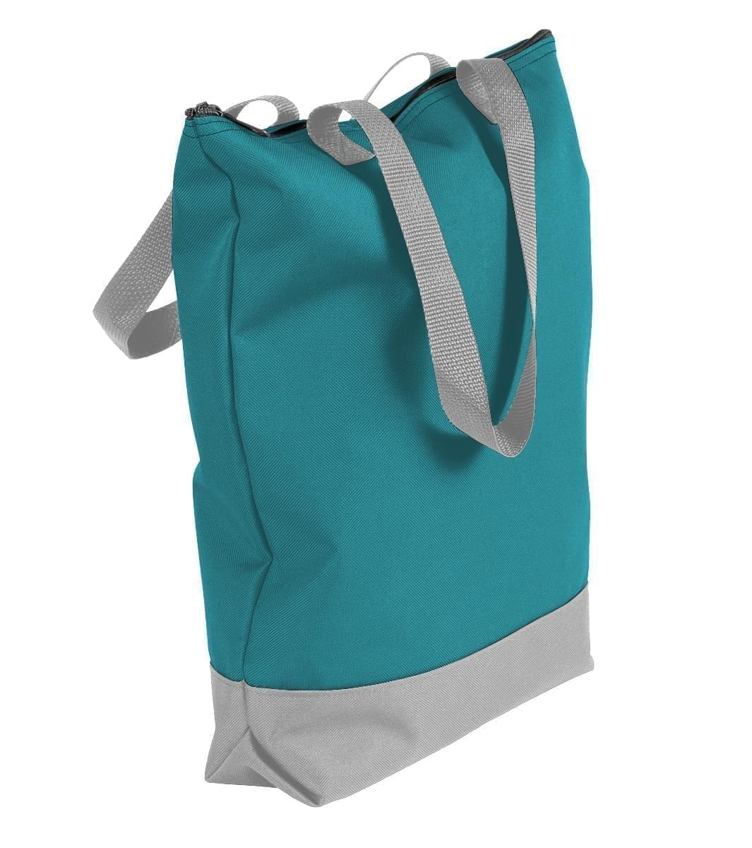 USA Made Poly Notebook Tote Bags, Turquoise-Grey, 1AAMX1UA9U