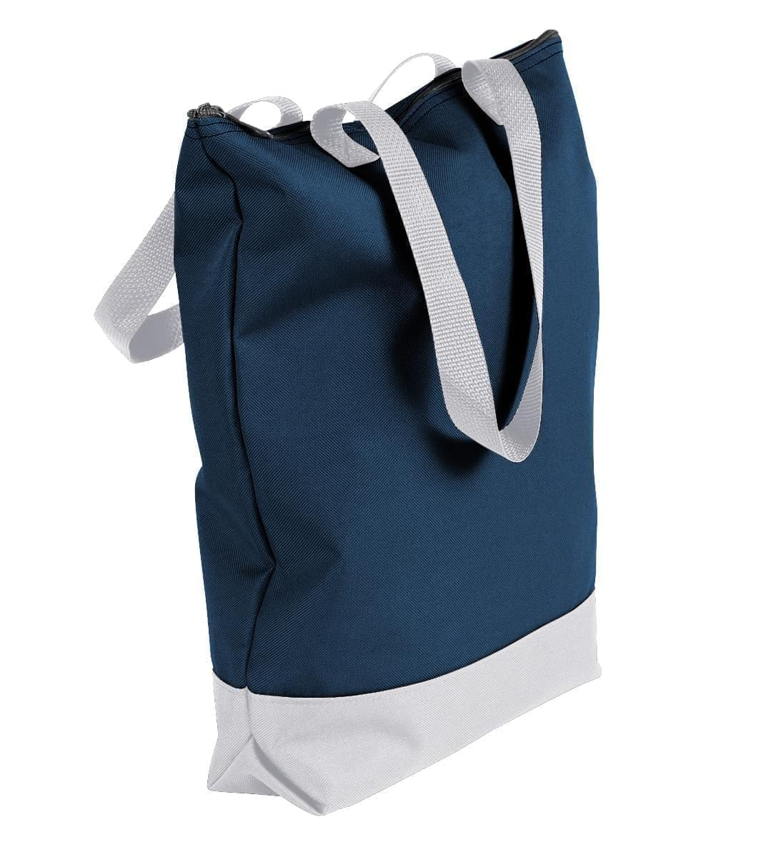 USA Made Canvas Portfolio Tote Bags, Navy-White, 1AAMX1UAC4