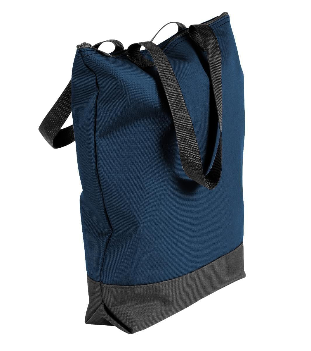 USA Made Canvas Portfolio Tote Bags, Navy-Black, 1AAMX1UACR