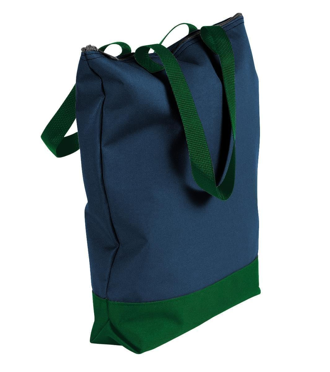 USA Made Canvas Portfolio Tote Bags, Navy-Hunter Green, 1AAMX1UACV