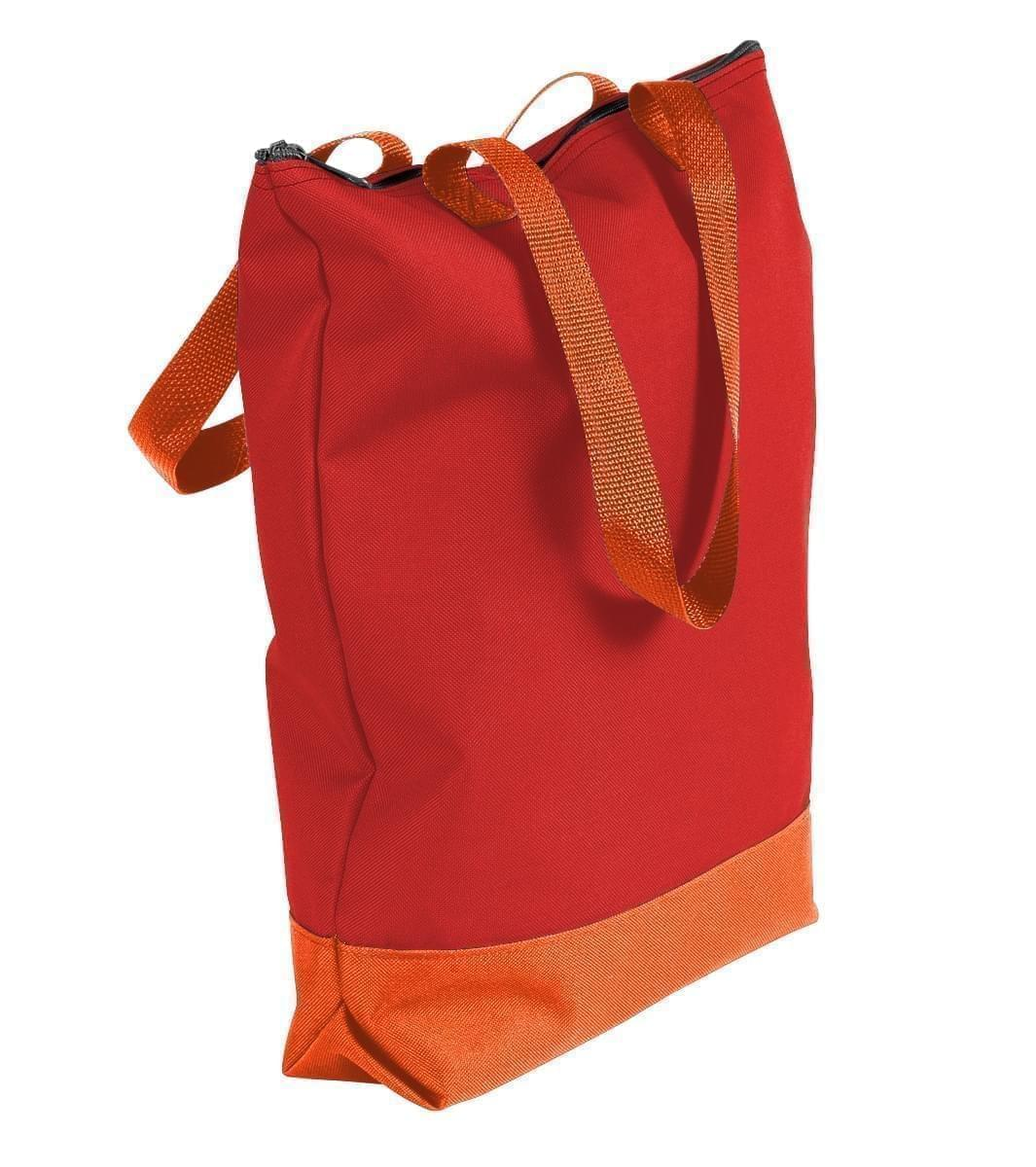 USA Made Canvas Portfolio Tote Bags, Red-Orange, 1AAMX1UAE0