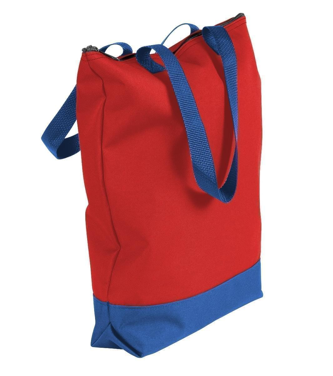 USA Made Canvas Portfolio Tote Bags, Red-Royal Blue, 1AAMX1UAE3
