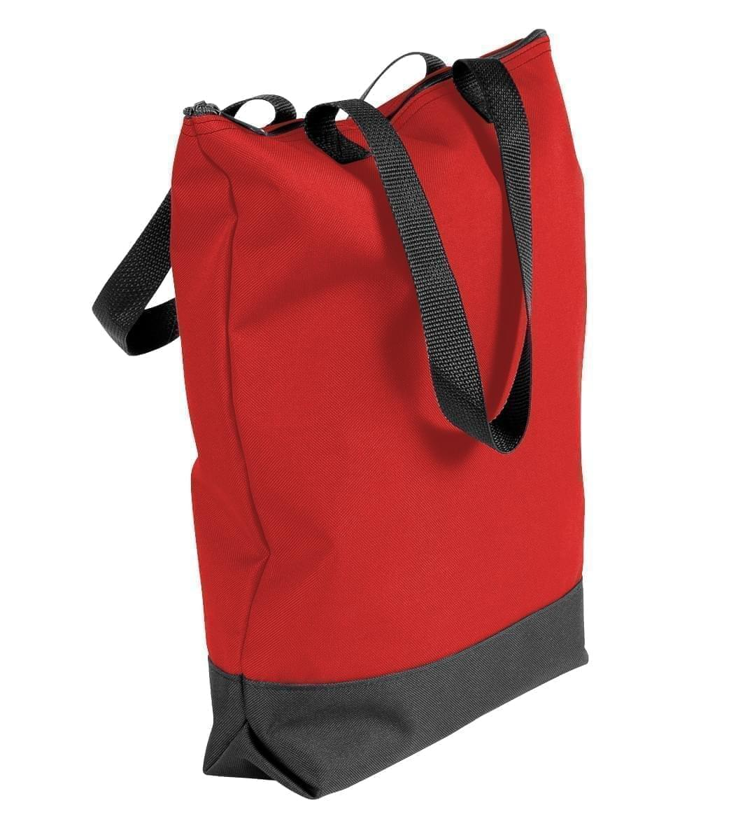 USA Made Canvas Portfolio Tote Bags, Red-Black, 1AAMX1UAER