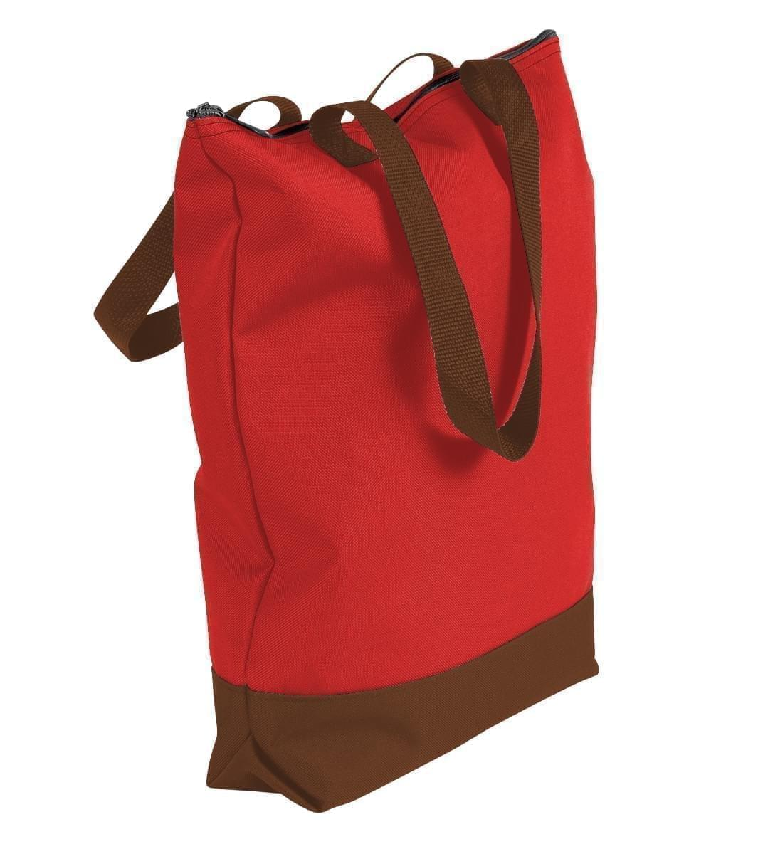 USA Made Canvas Portfolio Tote Bags, Red-Brown, 1AAMX1UAES