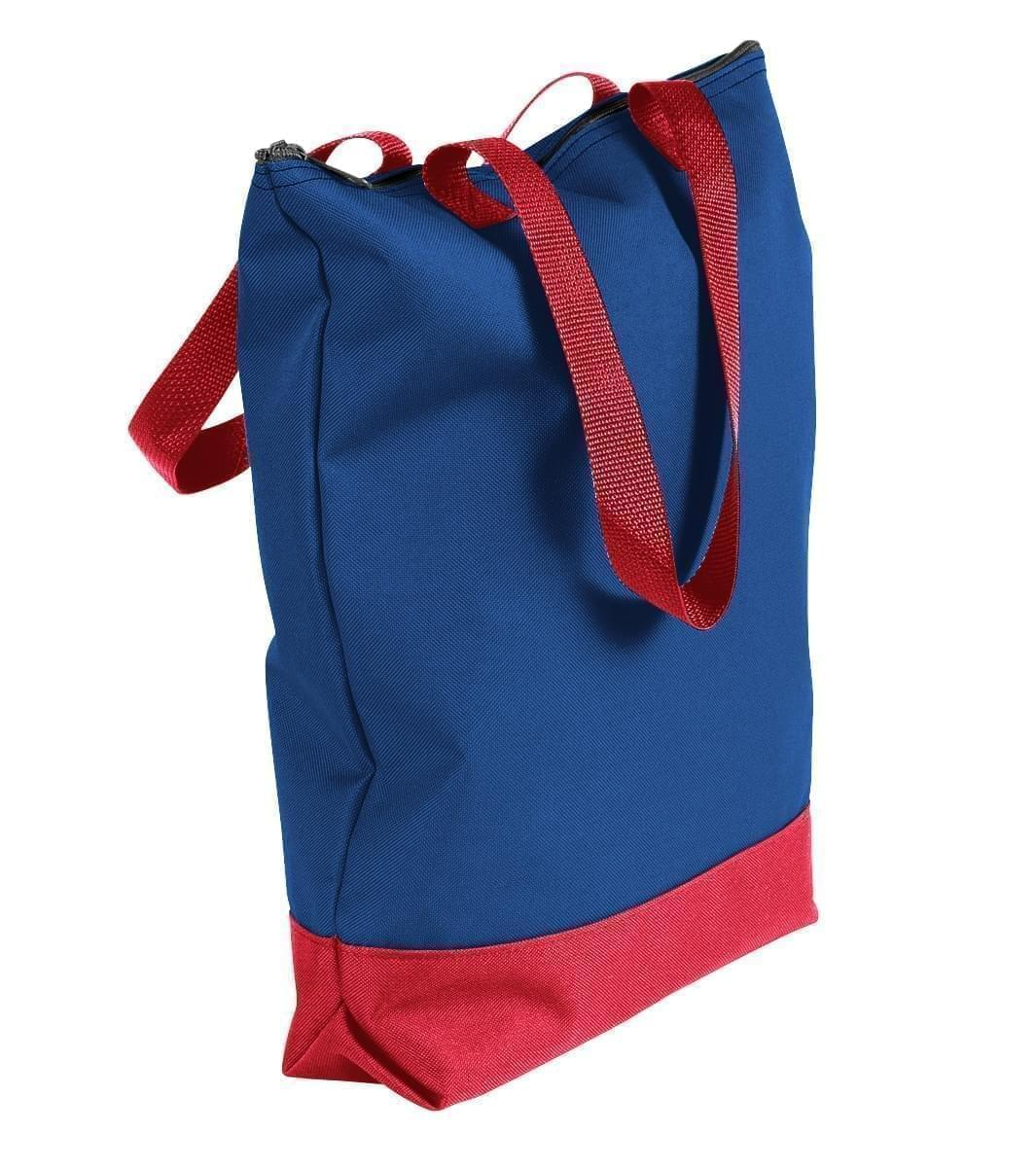 USA Made Canvas Portfolio Tote Bags, Royal Blue-Red, 1AAMX1UAF2