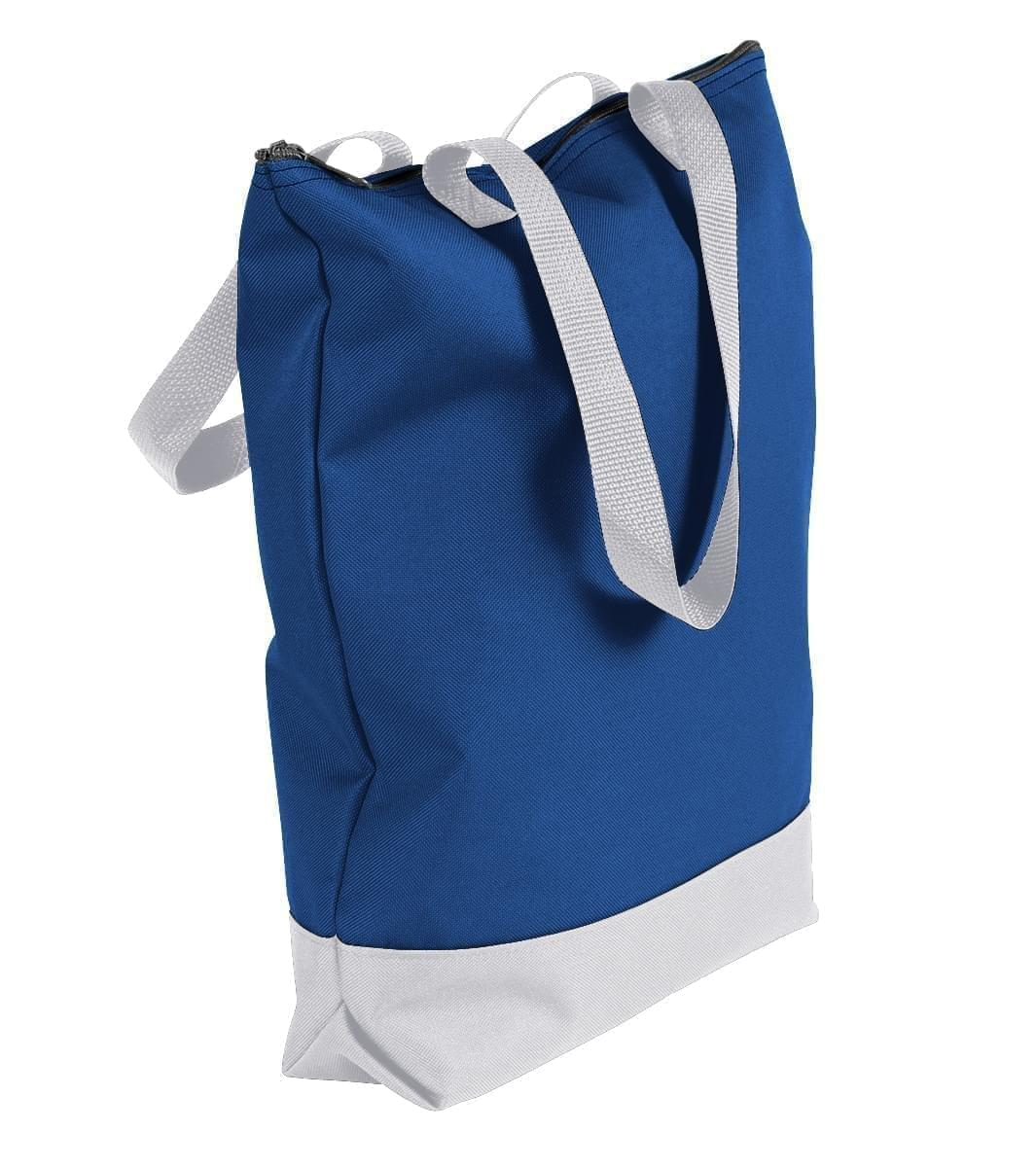 USA Made Canvas Portfolio Tote Bags, Royal Blue-White, 1AAMX1UAF4