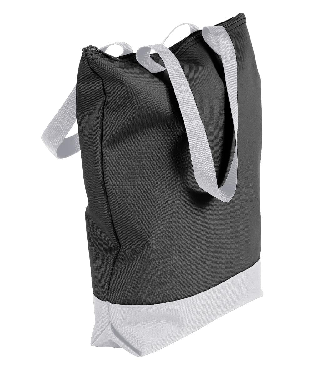 USA Made Canvas Portfolio Tote Bags, Black-White, 1AAMX1UAH4