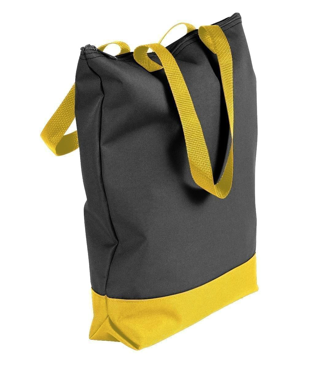 USA Made Canvas Portfolio Tote Bags, Black-Gold, 1AAMX1UAH5