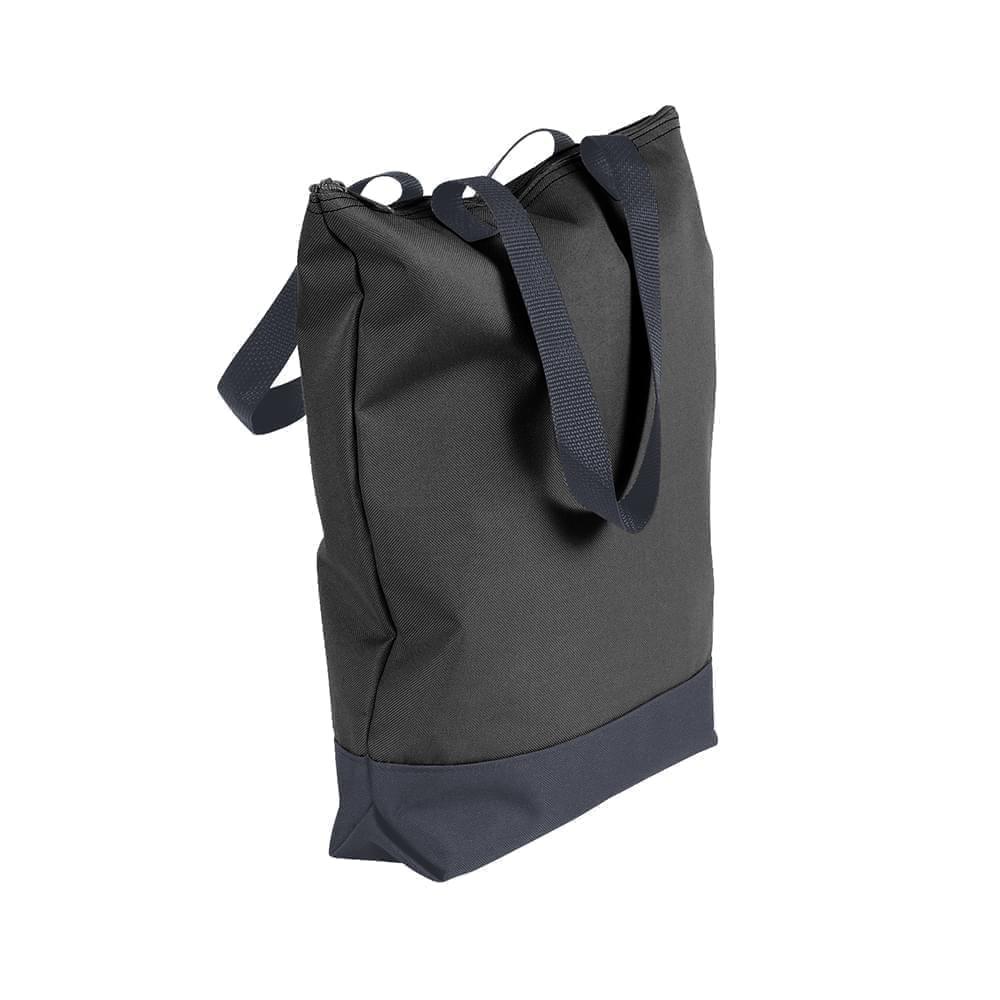USA Made Canvas Portfolio Tote Bags, Black-Graphite, 1AAMX1UAHT