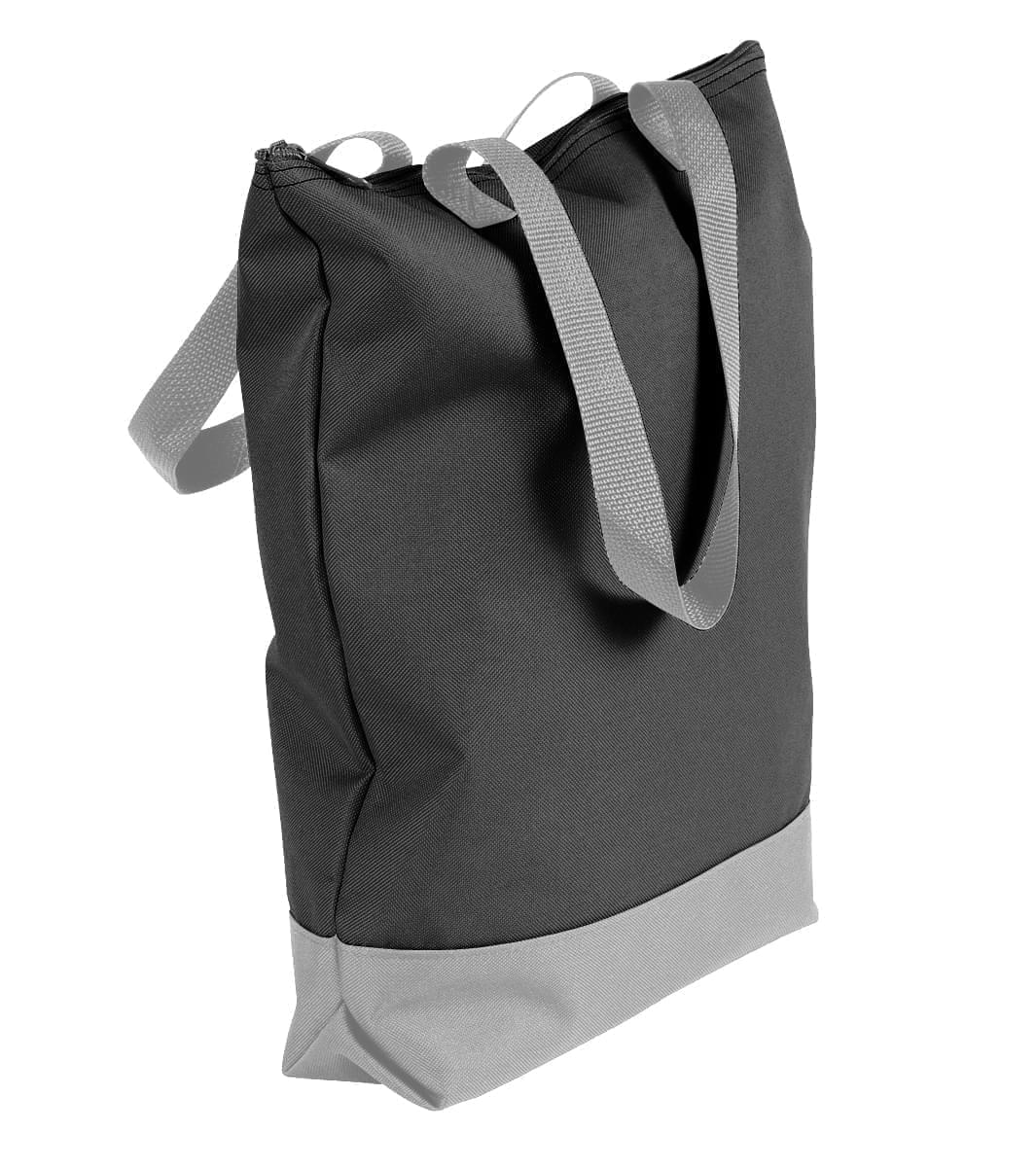 USA Made Canvas Portfolio Tote Bags, Black-Grey, 1AAMX1UAHU