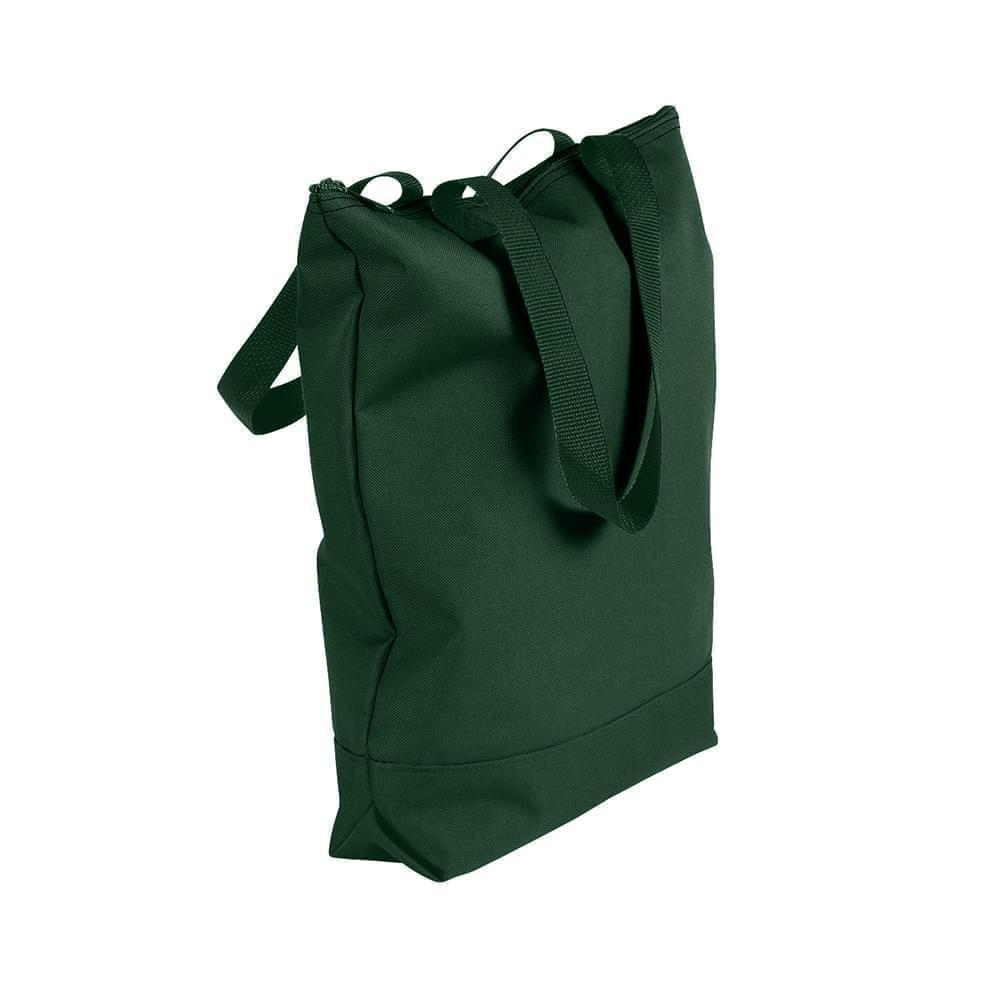 USA Made Canvas Portfolio Tote Bags, Hunter Green-Hunter Green, 1AAMX1UAIV