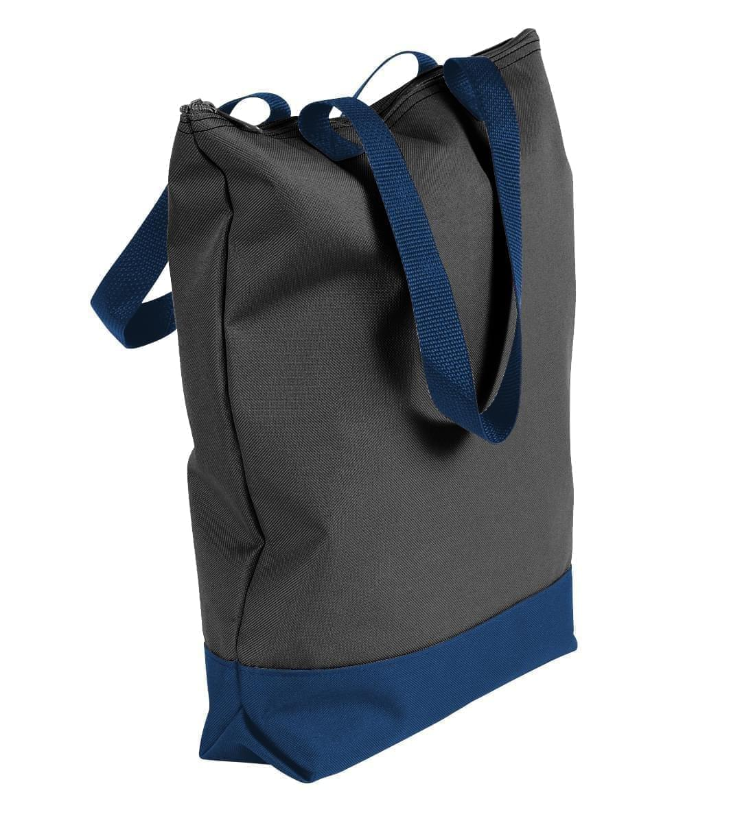 USA Made Poly Notebook Tote Bags, Black-Navy, 1AAMX1UAOZ