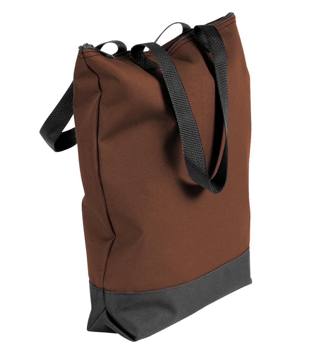 USA Made Poly Notebook Tote Bags, Brown-Black, 1AAMX1UAPR