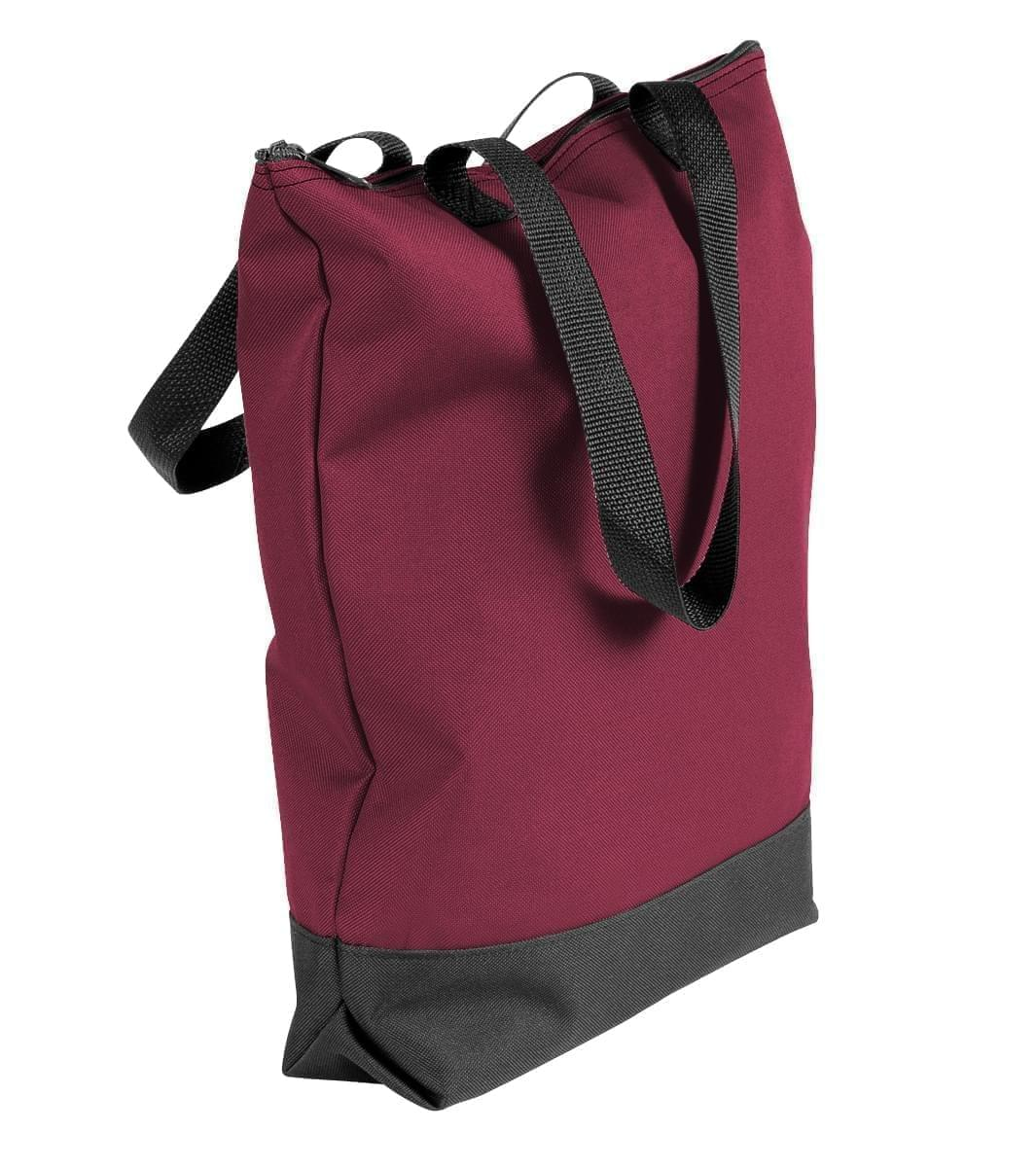 USA Made Poly Notebook Tote Bags, Burgundy-Black, 1AAMX1UAQR