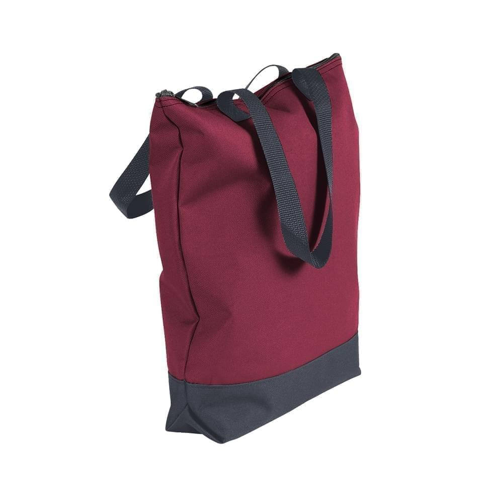 USA Made Poly Notebook Tote Bags, Burgundy-Graphite, 1AAMX1UAQT