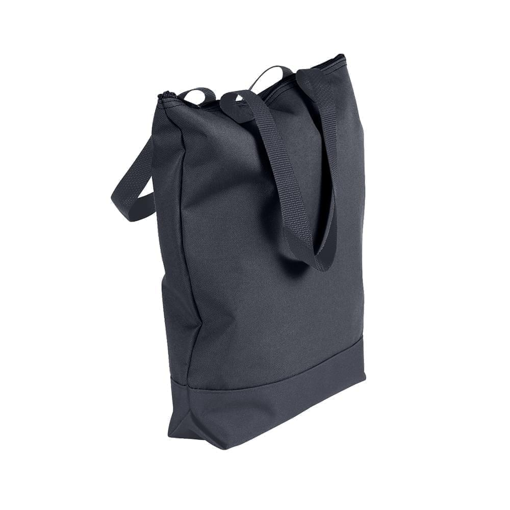 USA Made Poly Notebook Tote Bags, Graphite-Graphite, 1AAMX1UART