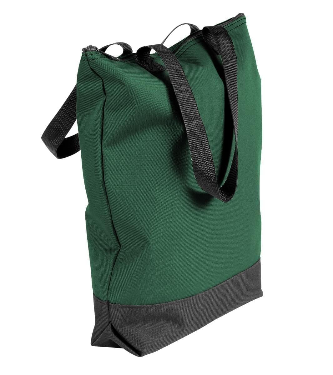 USA Made Poly Notebook Tote Bags, Hunter Green-Black, 1AAMX1UASR