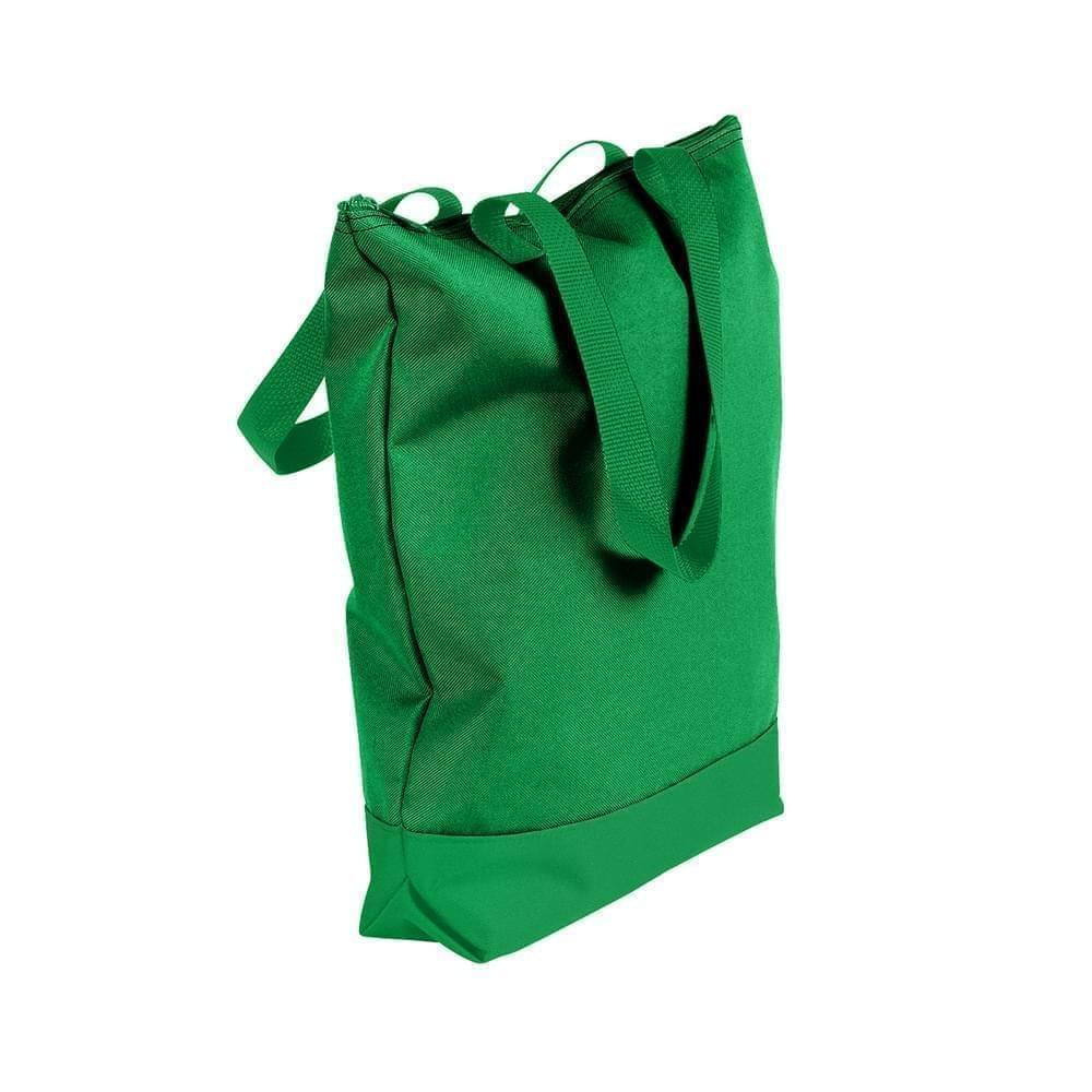 USA Made Poly Notebook Tote Bags, Kelly Green-Kelly Green, 1AAMX1UATW