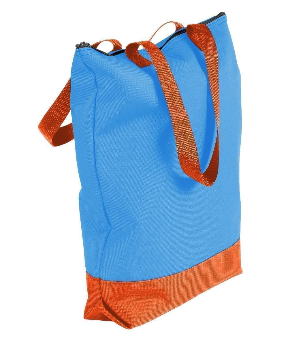 USA Made Poly Notebook Tote Bags, Columbia-Orange, 1AAMX1UAU0