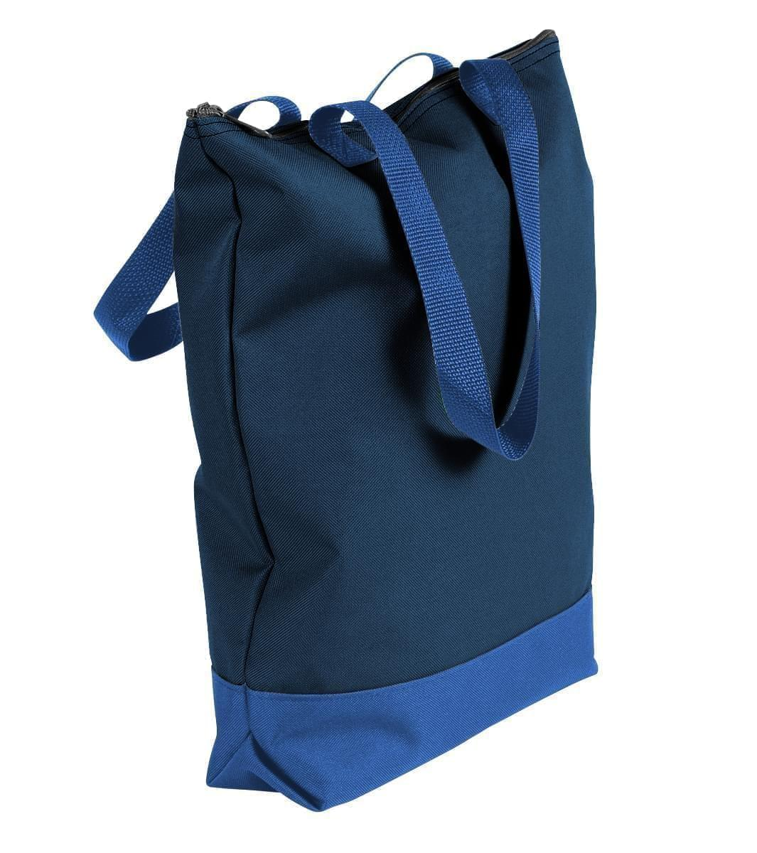 USA Made Poly Notebook Tote Bags, Navy-Royal Blue, 1AAMX1UAW3