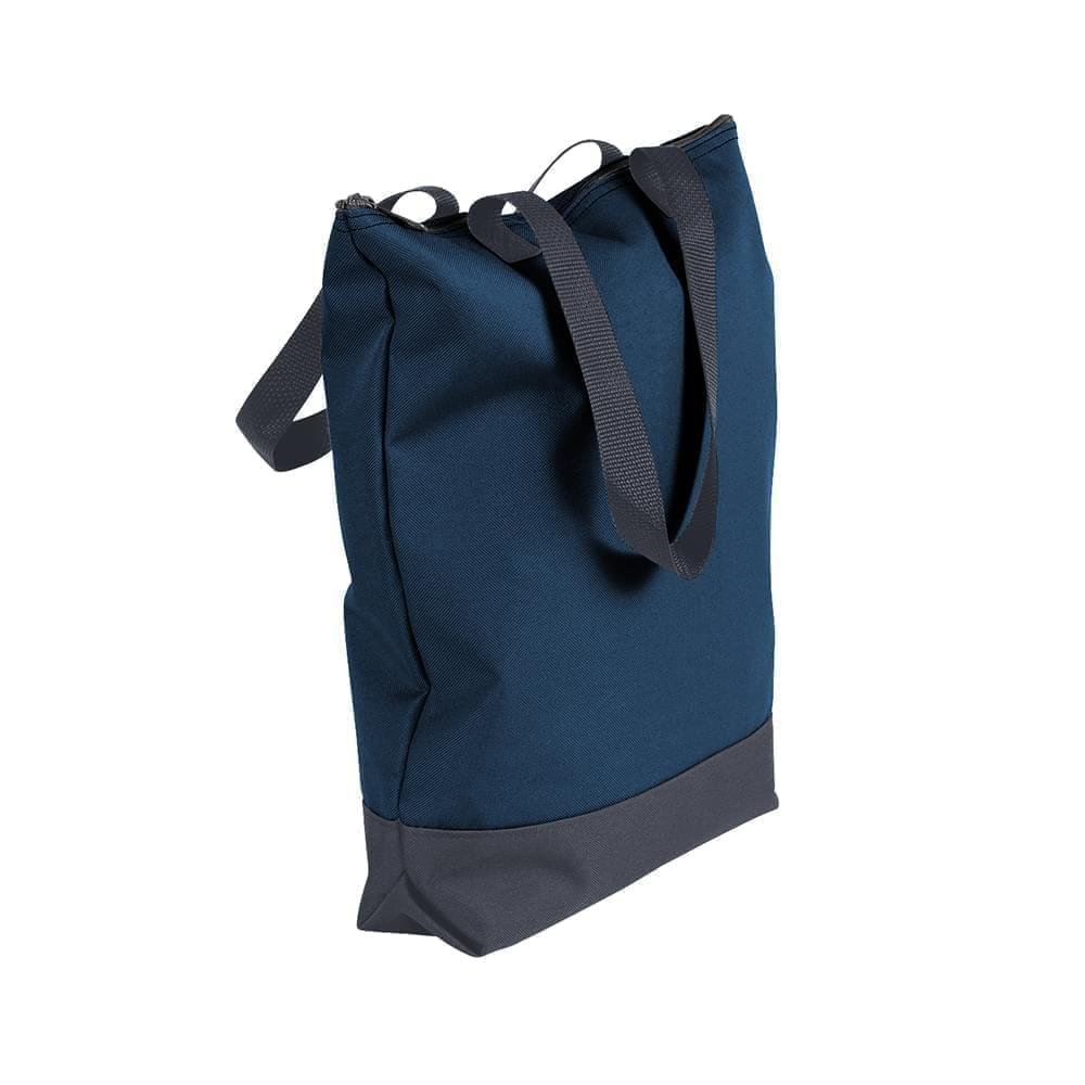 USA Made Poly Notebook Tote Bags, Navy-Graphite, 1AAMX1UAWT