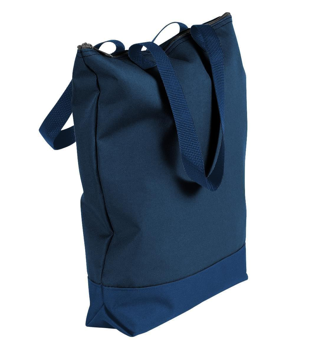 USA Made Poly Notebook Tote Bags, Navy-Navy, 1AAMX1UAWZ