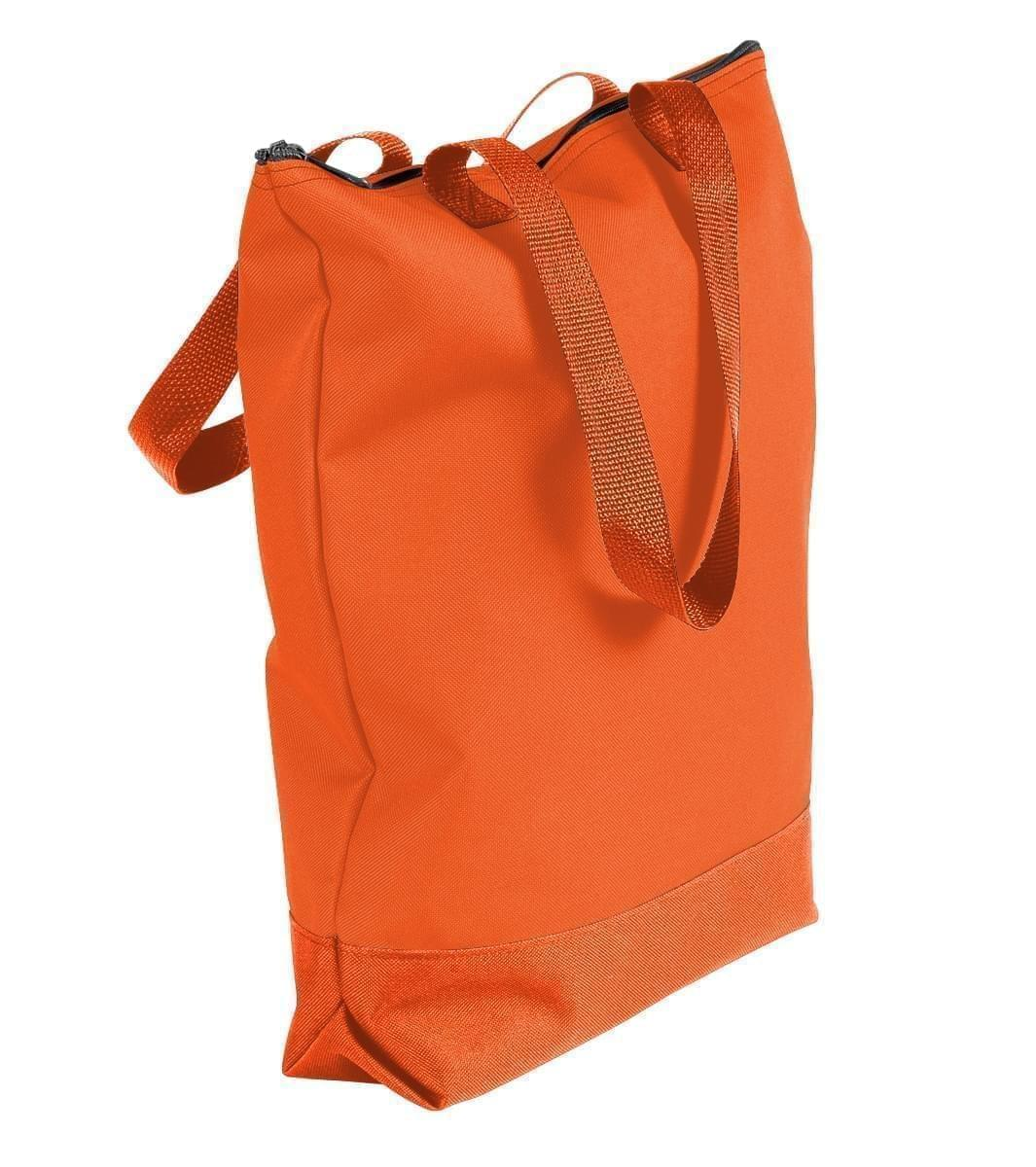 USA Made Poly Notebook Tote Bags, Orange-Orange, 1AAMX1UAX0