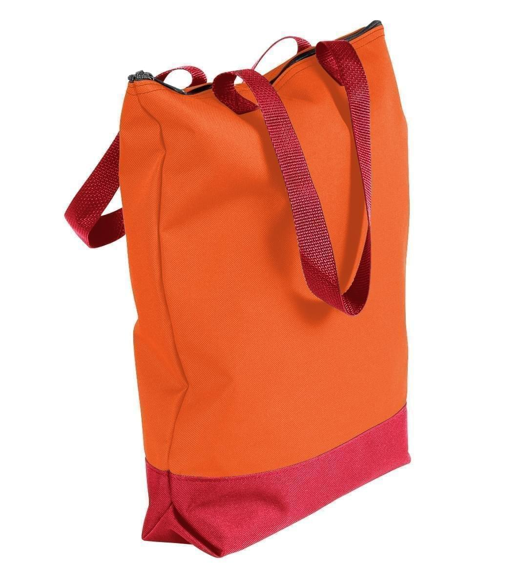 USA Made Poly Notebook Tote Bags, Orange-Red, 1AAMX1UAX2