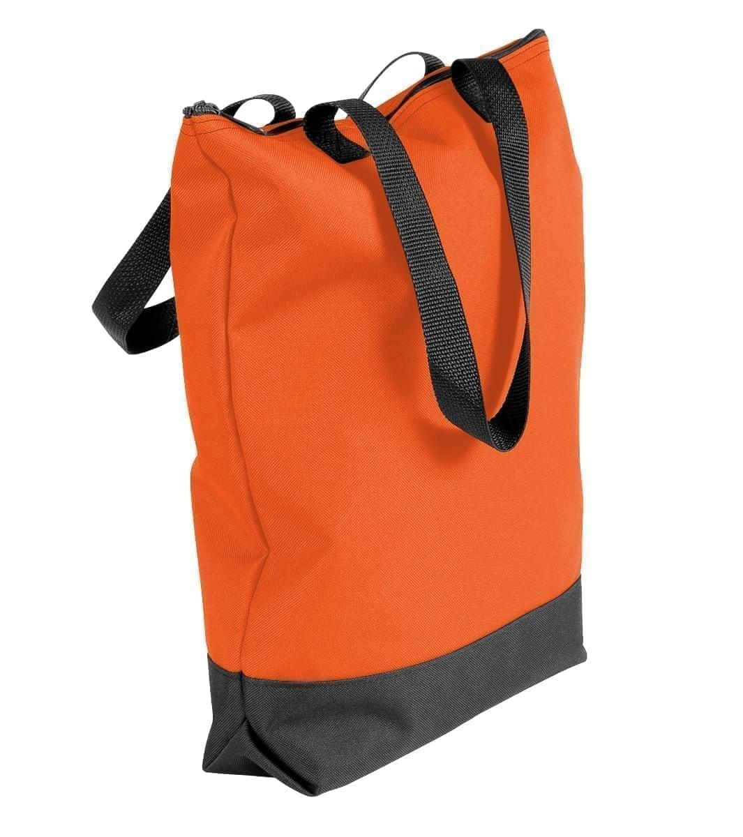 USA Made Poly Notebook Tote Bags, Orange-Black, 1AAMX1UAXR