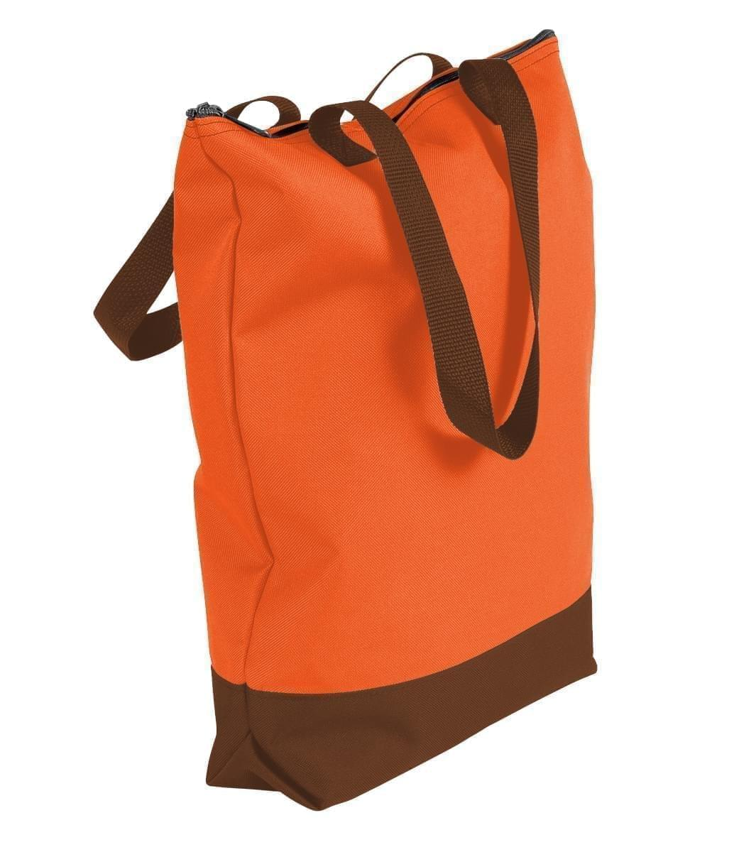 USA Made Poly Notebook Tote Bags, Orange-Brown, 1AAMX1UAXS
