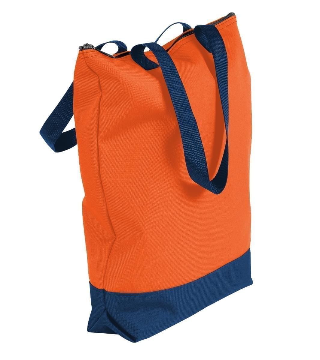 USA Made Poly Notebook Tote Bags, Orange-Navy, 1AAMX1UAXZ