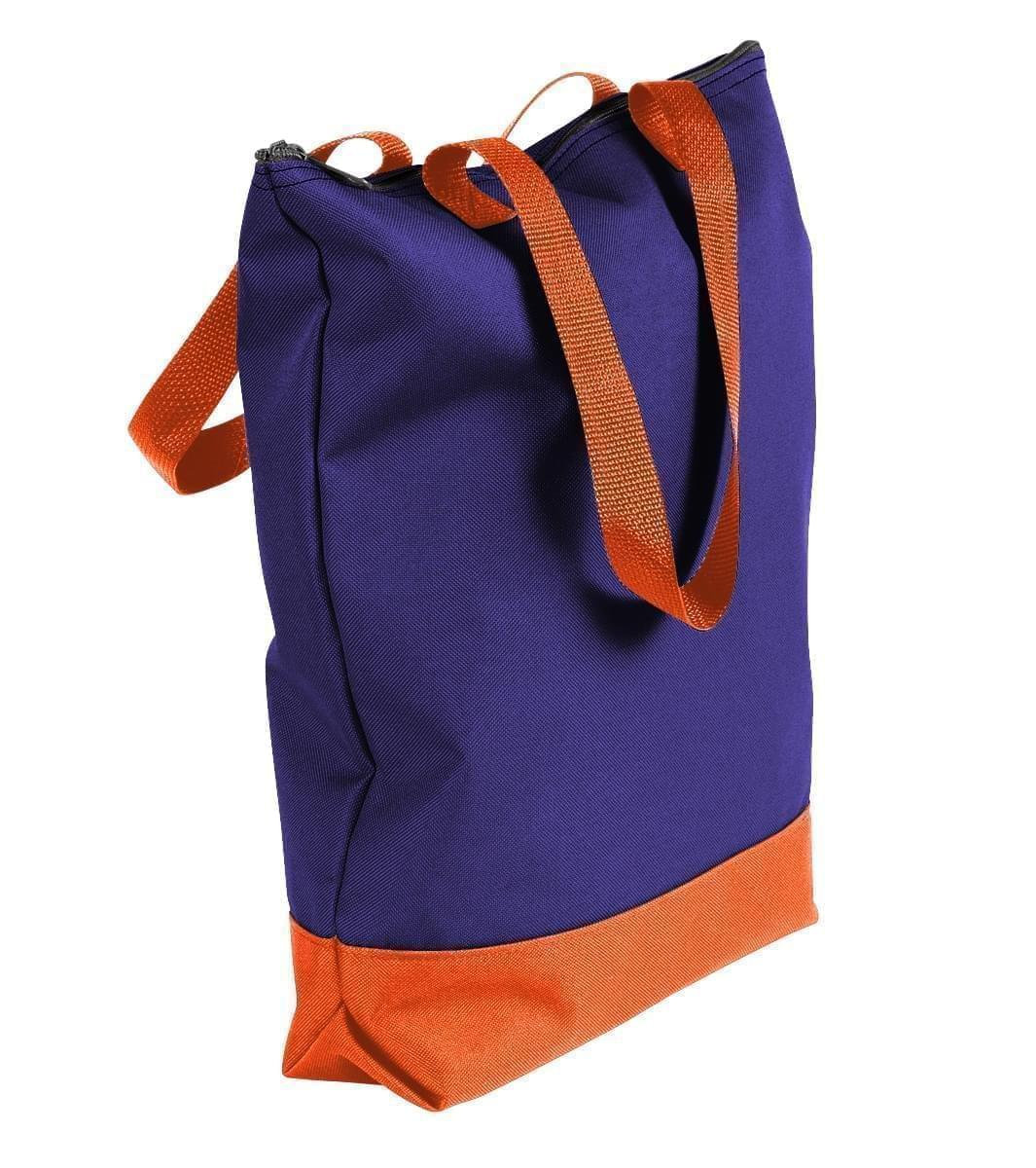 USA Made Poly Notebook Tote Bags, Purple-Orange, 1AAMX1UAY0