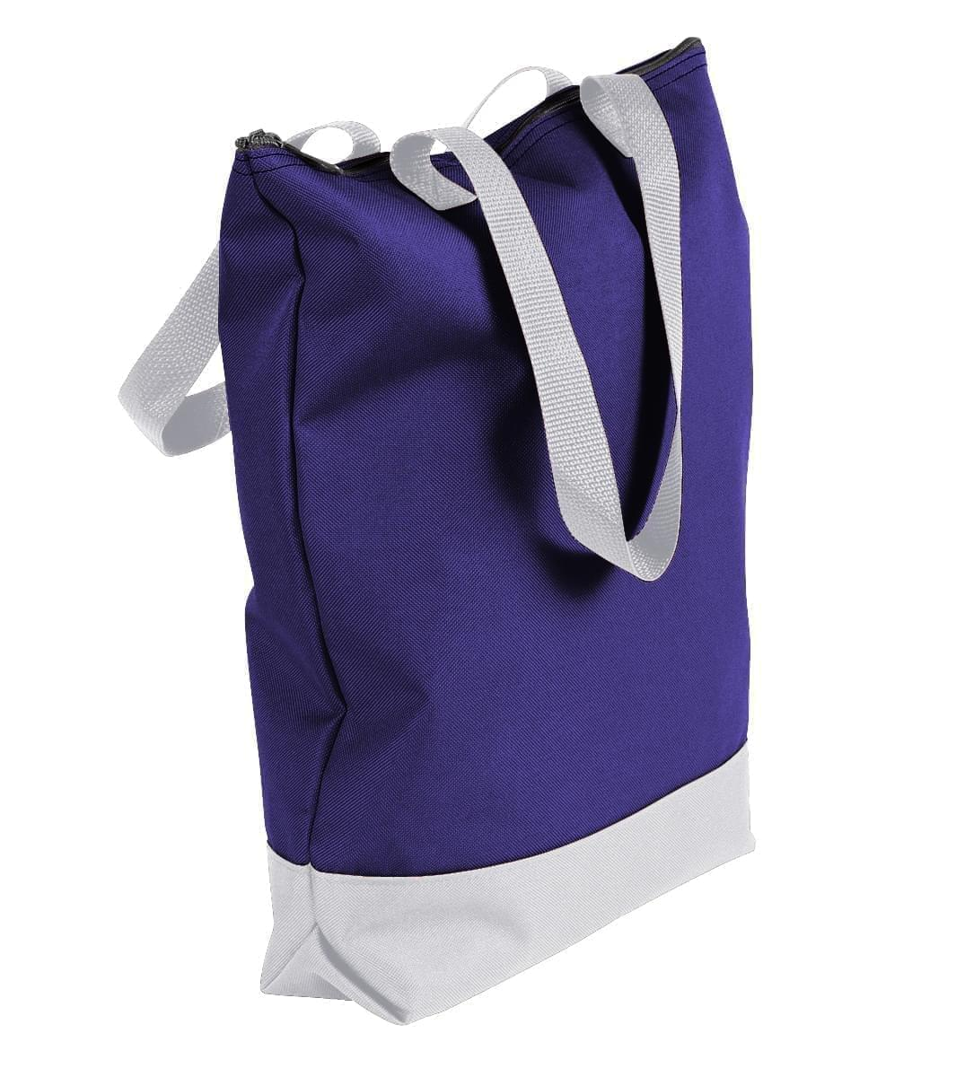 USA Made Poly Notebook Tote Bags, Purple-White, 1AAMX1UAY4