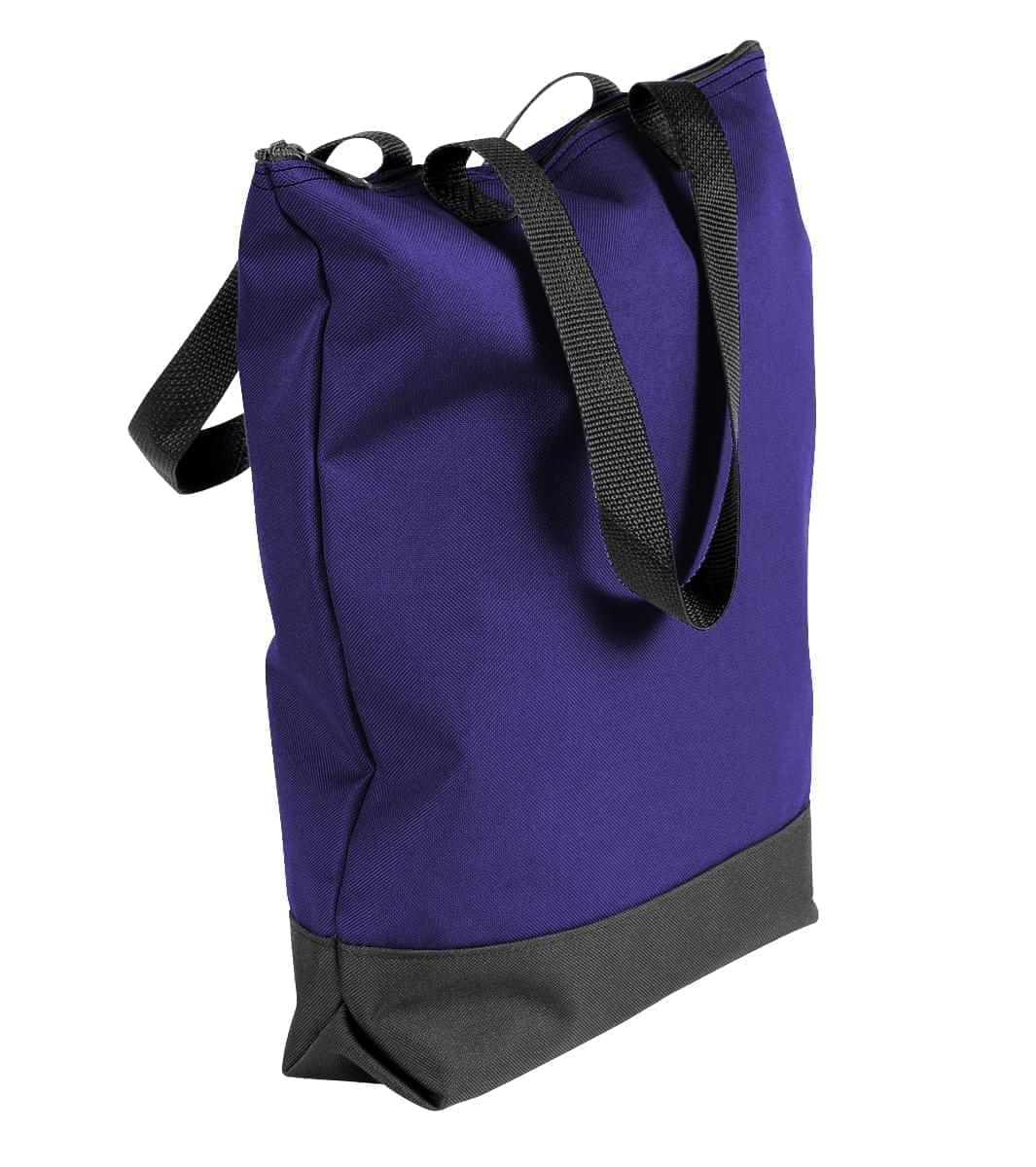 USA Made Poly Notebook Tote Bags, Purple-Black, 1AAMX1UAYR