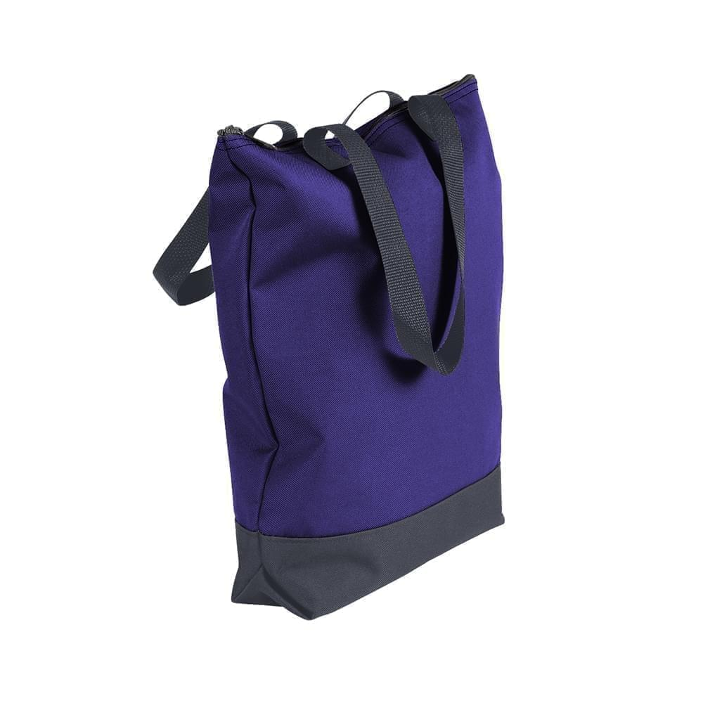 USA Made Poly Notebook Tote Bags, Purple-Graphite, 1AAMX1UAYT