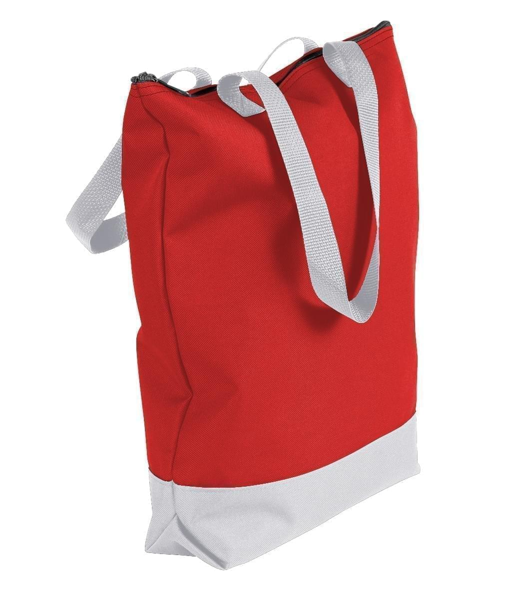 USA Made Poly Notebook Tote Bags, Red-White, 1AAMX1UAZ4