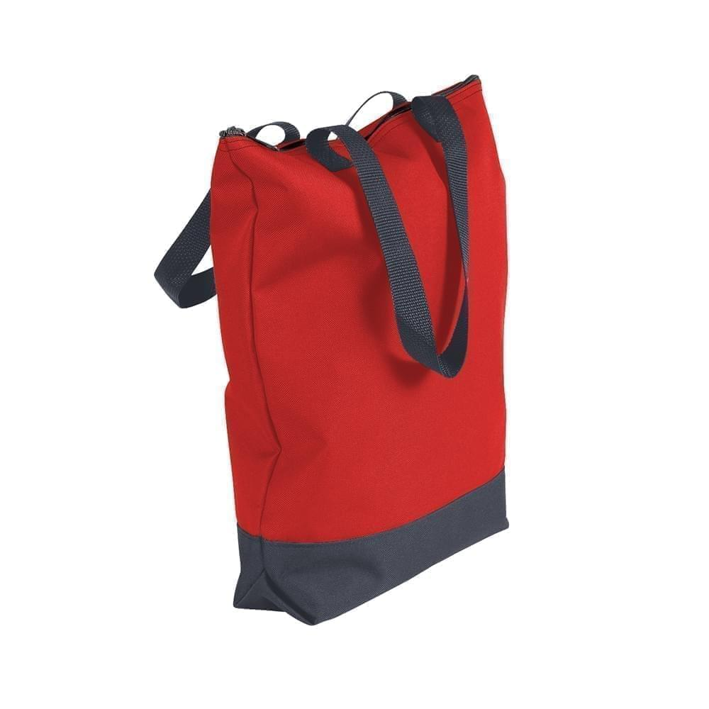 USA Made Poly Notebook Tote Bags, Red-Graphite, 1AAMX1UAZT