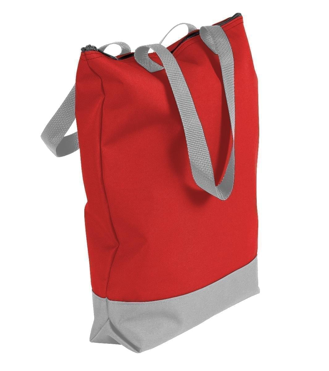 USA Made Poly Notebook Tote Bags, Red-Grey, 1AAMX1UAZU