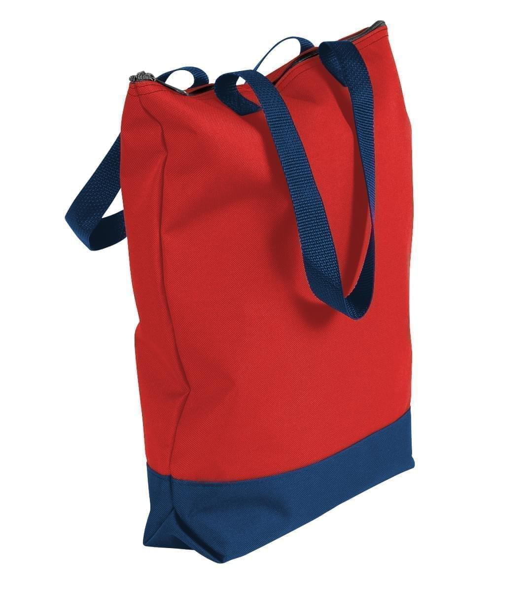 USA Made Poly Notebook Tote Bags, Red-Navy, 1AAMX1UAZZ