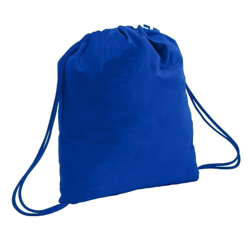 USA Made 200 D Nylon Drawstring Backpacks, Royal-Royal, 2001744-T03