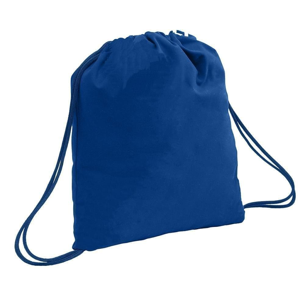 USA Made 200 D Nylon Drawstring Backpacks, Royal-Navy, 2001744-T0Z