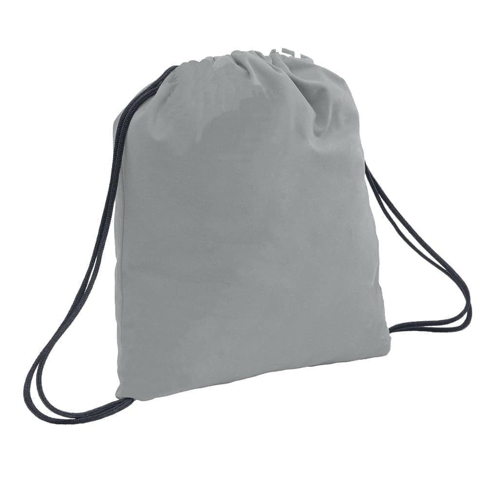 USA Made 200 D Nylon Drawstring Backpacks, Gray-Graphite, 2001744-T1T