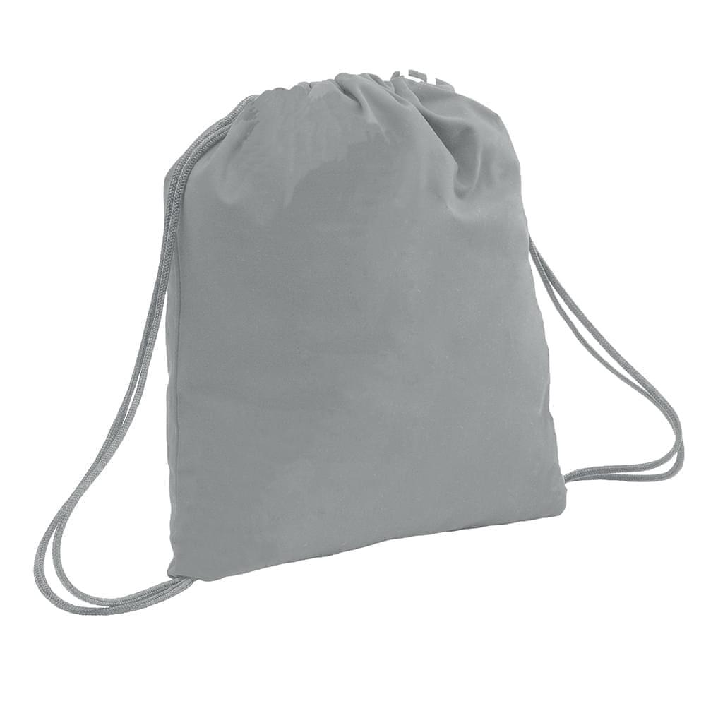 USA Made 200 D Nylon Drawstring Backpacks, Gray-Gray, 2001744-T1U