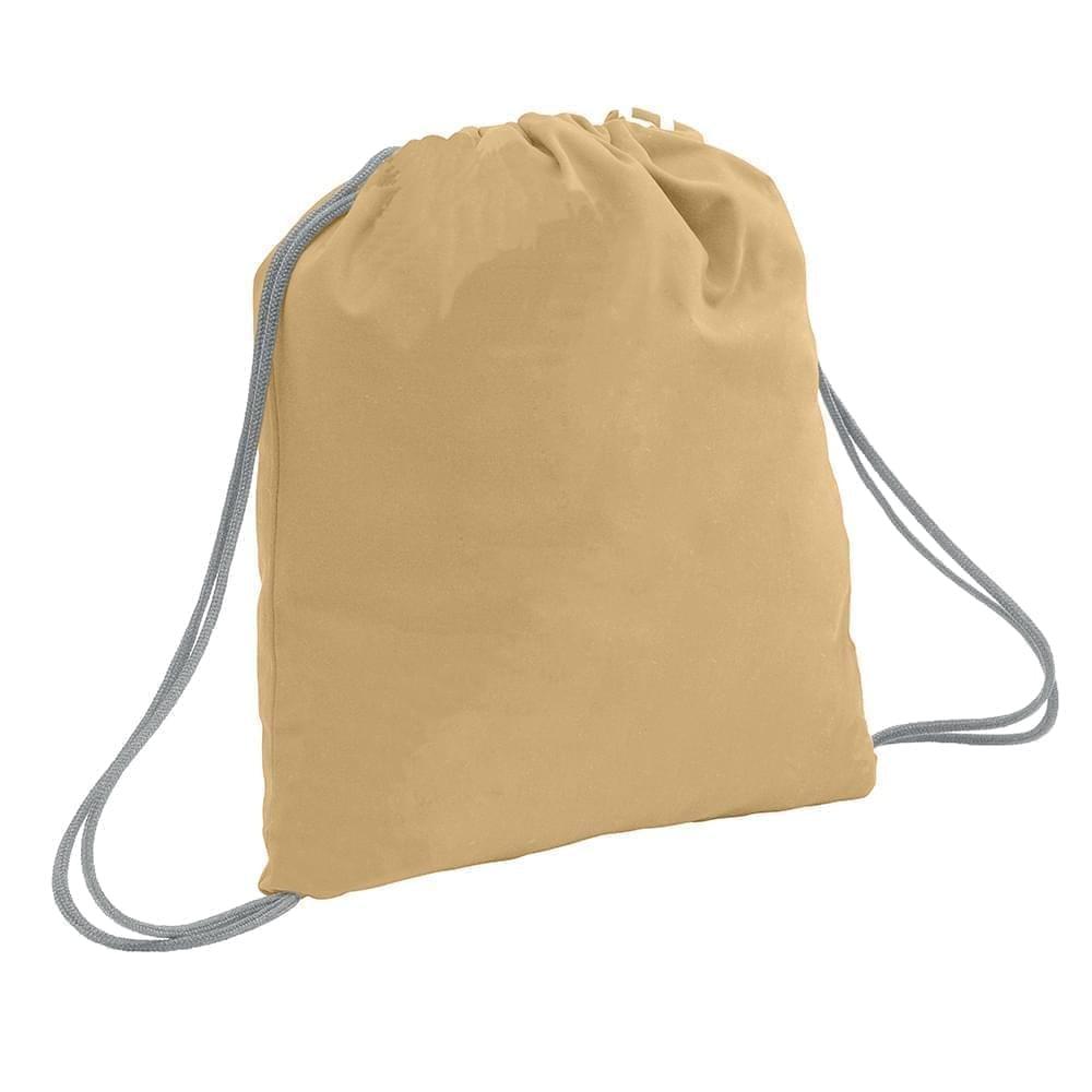 USA Made 200 D Nylon Drawstring Backpacks, Khaki-Gray, 2001744-T2U