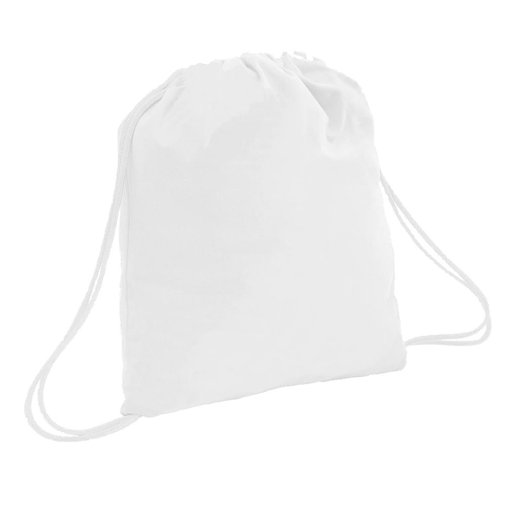 USA Made 200 D Nylon Drawstring Backpacks, White-White, 2001744-T34