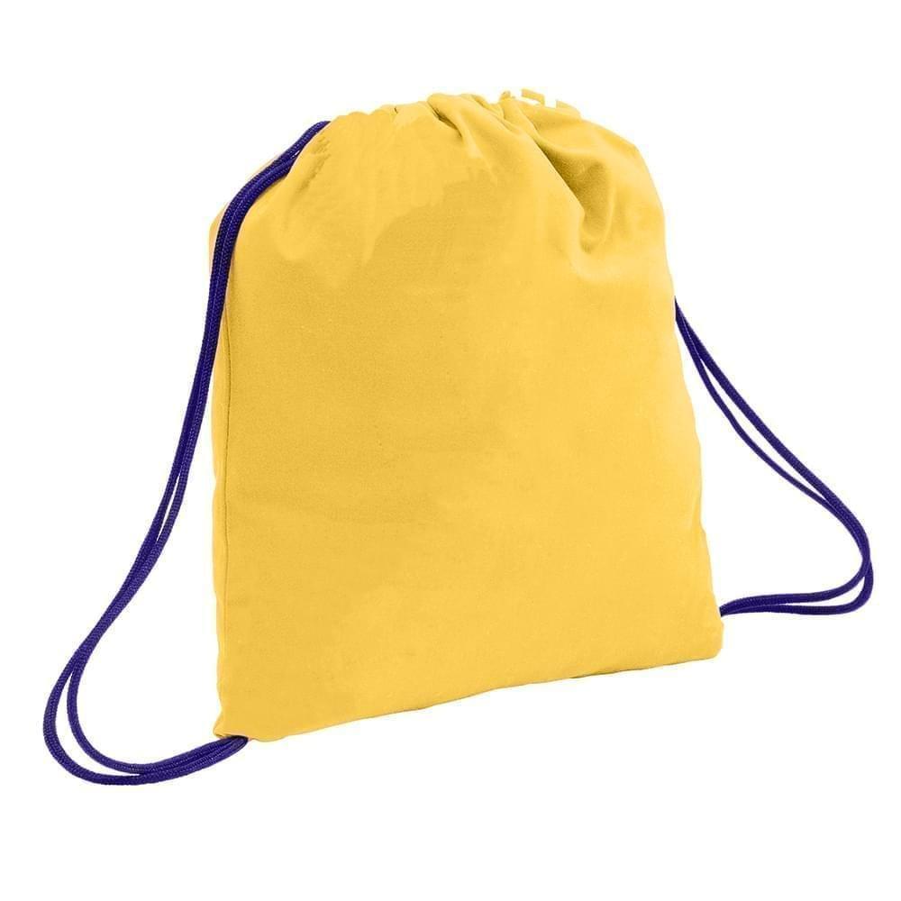 USA Made 200 D Nylon Drawstring Backpacks, Gold-Purple, 2001744-T41