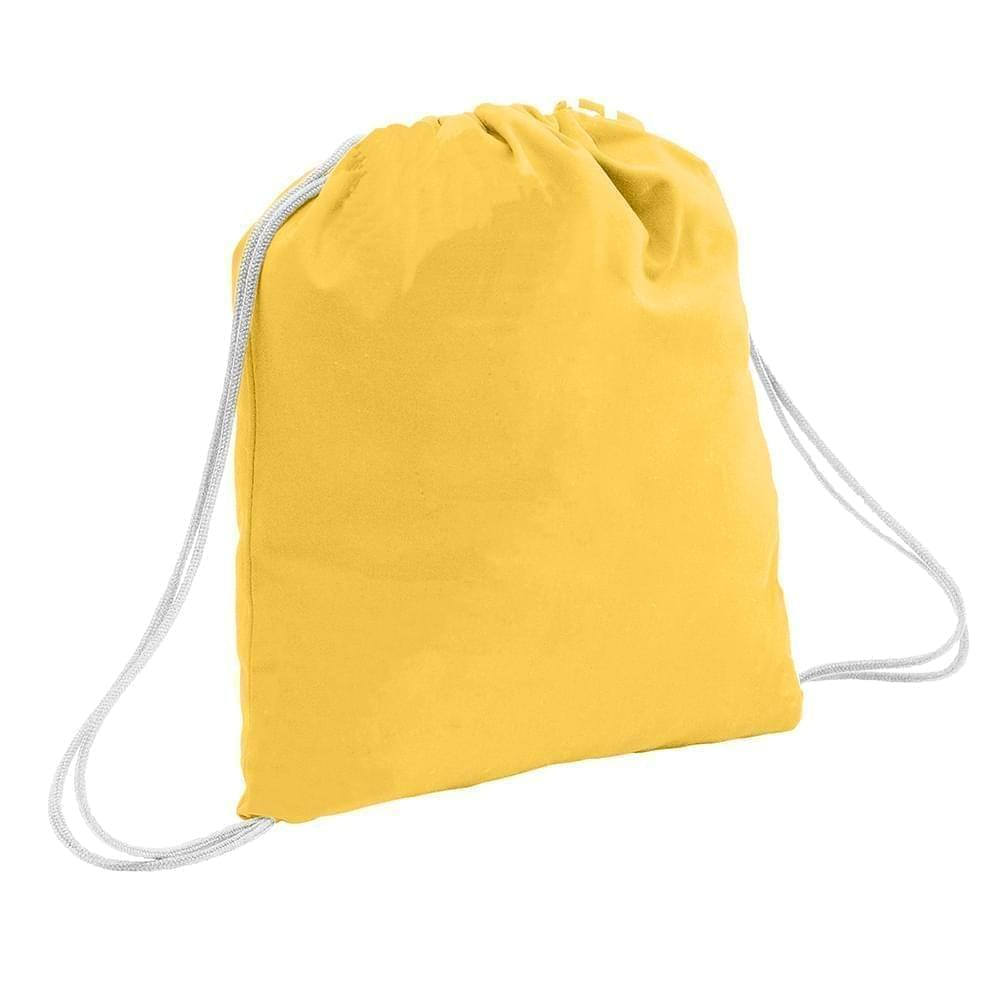 USA Made 200 D Nylon Drawstring Backpacks, Gold-White, 2001744-T44