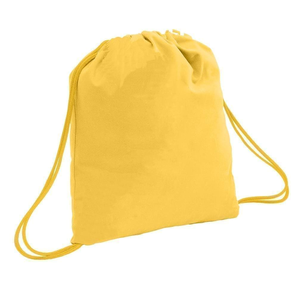 USA Made 200 D Nylon Drawstring Backpacks, Gold-Gold, 2001744-T45